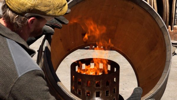 wine barrel building and toasting cooper insructional video