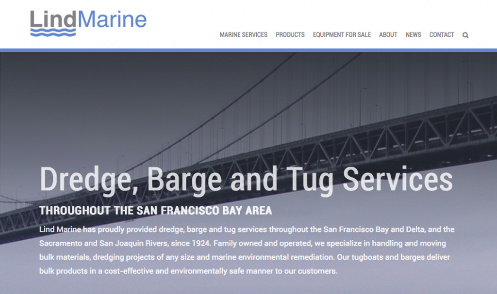 Lind Marine Website design